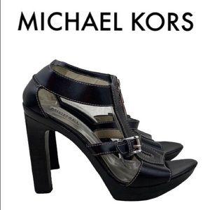 MICHAEL KORS BLACK SANDAL HEELS SIZE 9.5